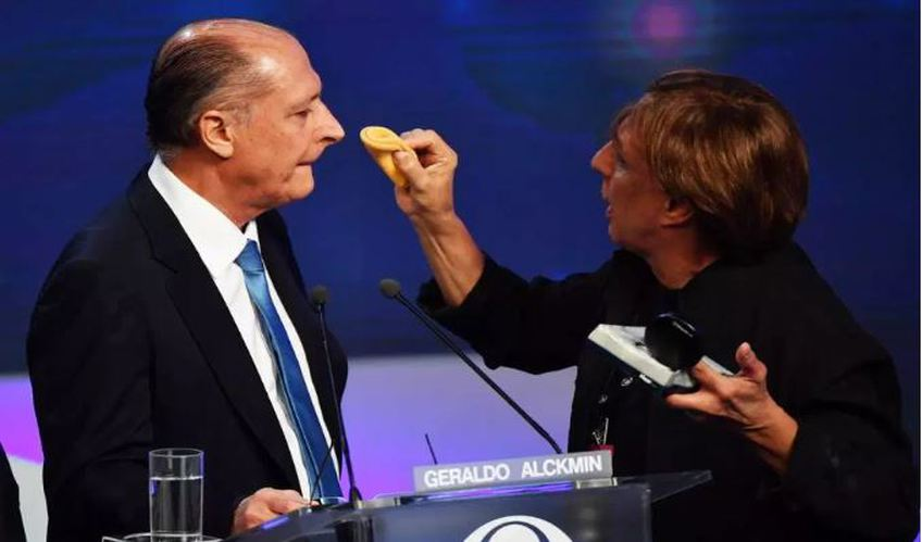 Foto do Geraldo Alckmin debate Band