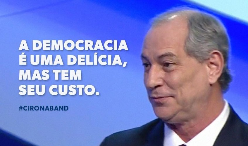 Foto do Ciro Gomes no 1º. debate