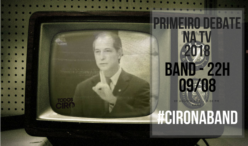 Ciro Gomes Primeiro Debate na TV Band