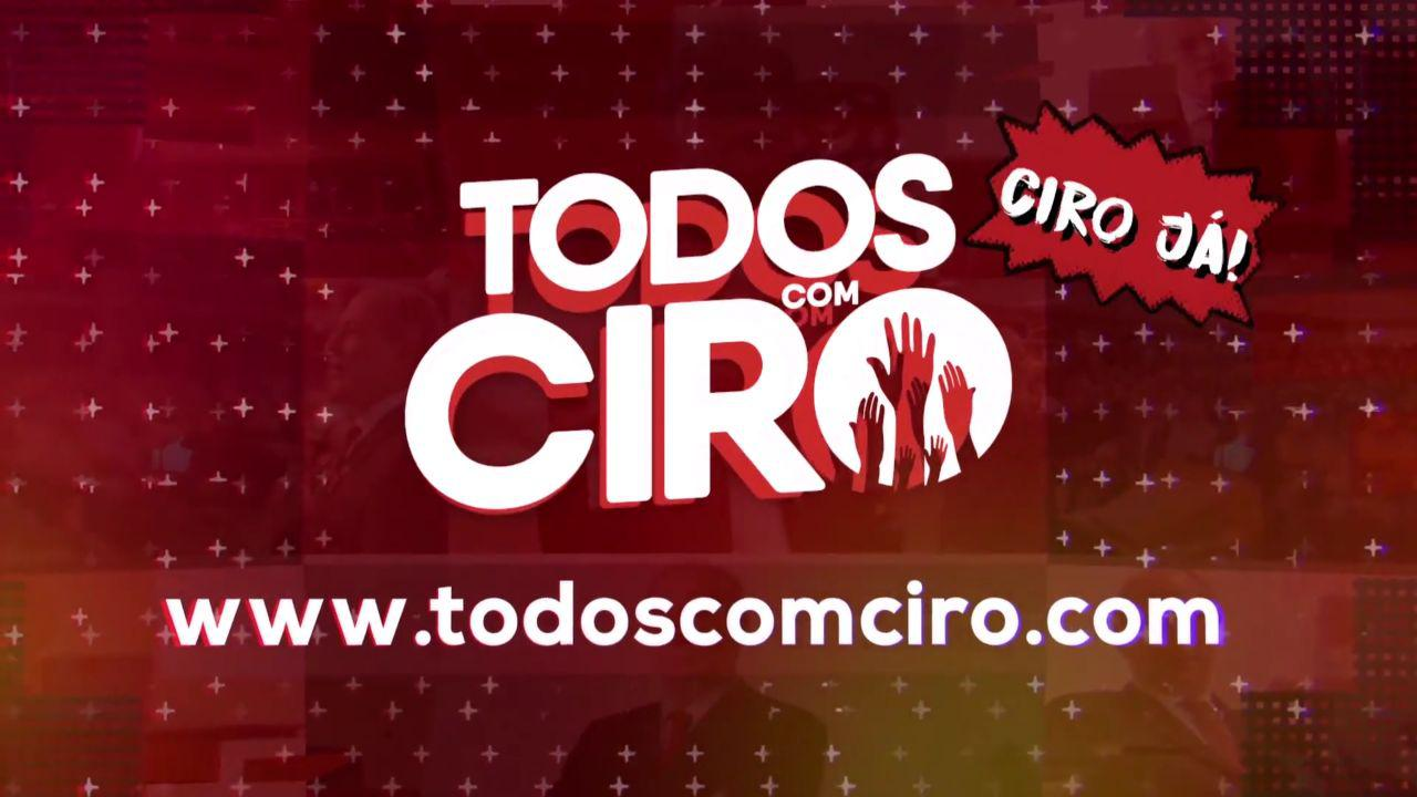 Banner do novo o novo jingle da #TodosComCiro!